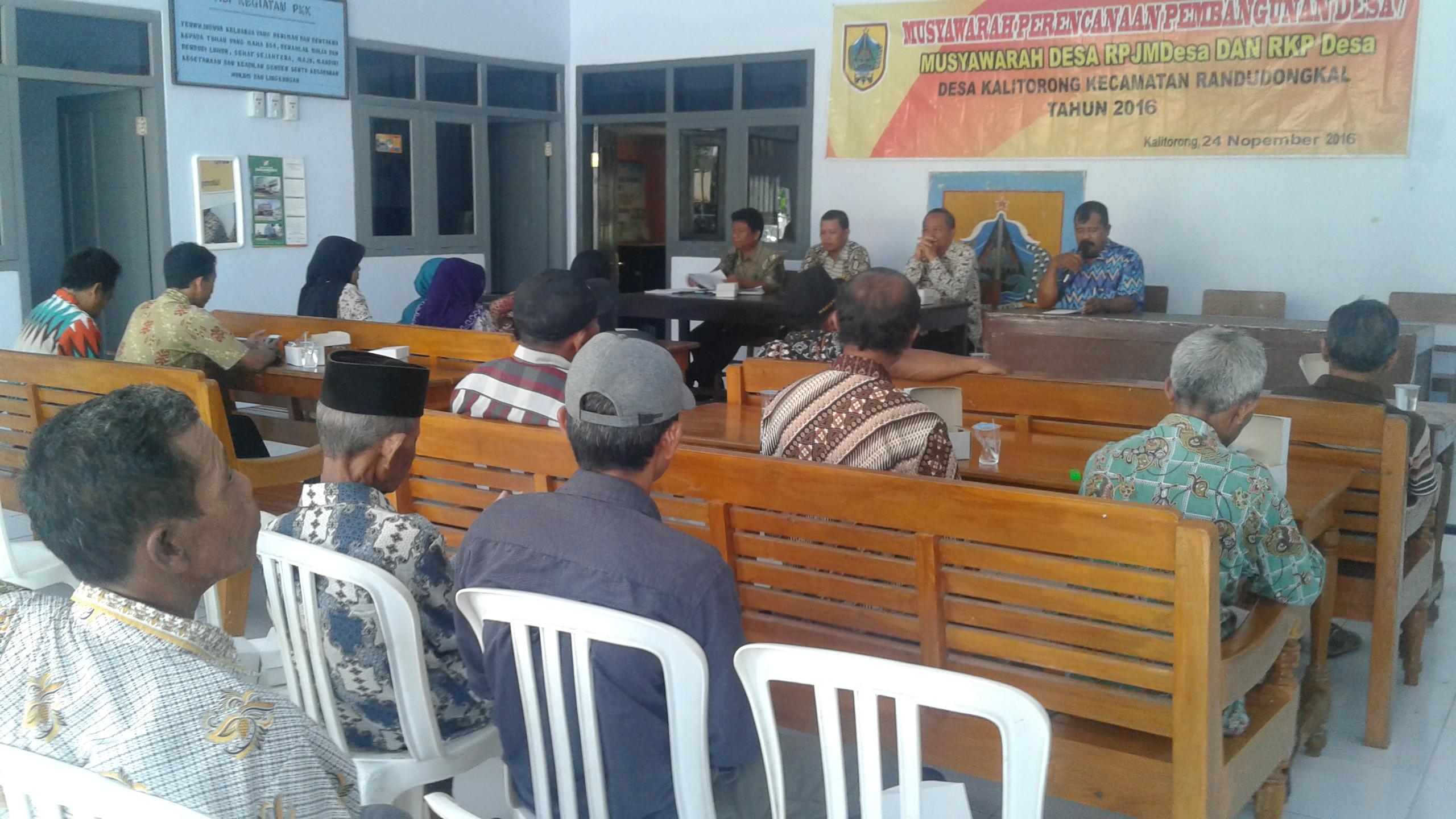 Rapat Musranbangdes desa kalitorong tahun 2016